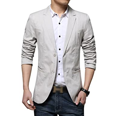YiLianDa Herren Nehmen Passender beiläufiger Stilvoller Anzug Jacken Mantel  Blazer Geschäft Anzugjacken  Amazon.de  Bekleidung 029448a0b5