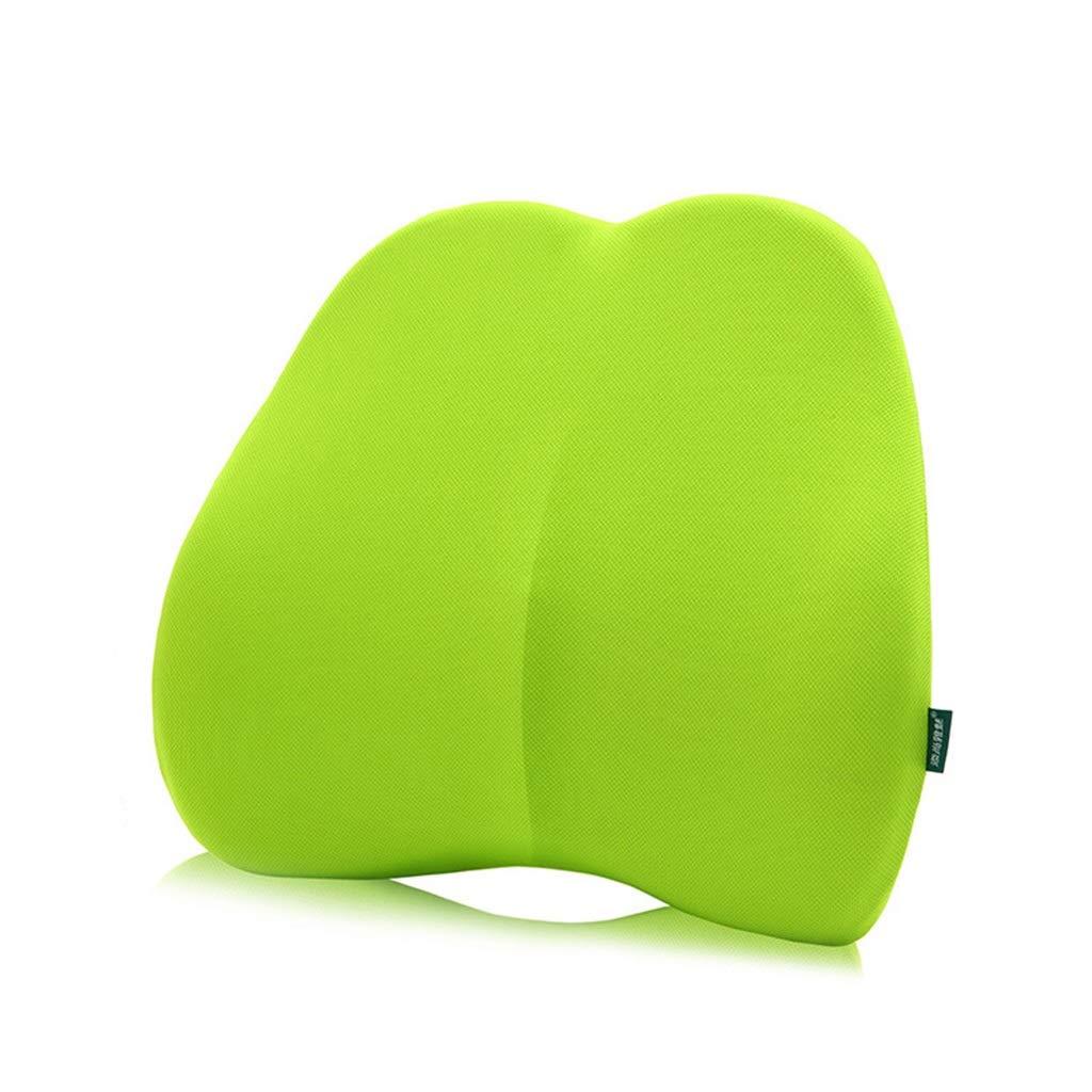 Lumbar, Comfortable Orthopedic Memory Reclining Lumbar Pillow Patio Chair Swing Chair Wheelchair Car Aircraft Seat 45cmx40cmx10cm (color : Green)