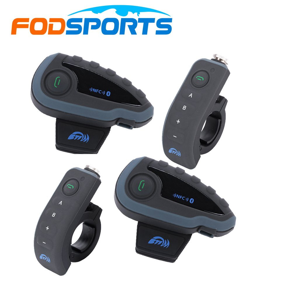 BTI moto de la motocicleta pcs Multi intercomunicador de Bluetooth Interphone Auriculares