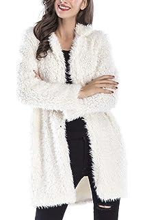 66de707747fb6 Manteau Fausse Fourrure Femme Hiver Mode Classique Veste Revers Chaude  Cardigan Polaire Gilet Manche Longue Blouson