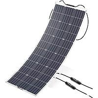 ALLPOWERS 100W 18V 12V Solar Panel Monocristalino Célula Placa Solar Portatil Flexible Módulo con Conectador MC4 para Coche, Carpa, Cabina, Barco, RV