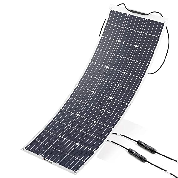 ALLPOWERS 100W 18V 12V Flexible Solar Panel Charger Monocrystalline  Lightweight Solar Module Kit with MC4 Connector Charging for RV Boat Cabin  Tent