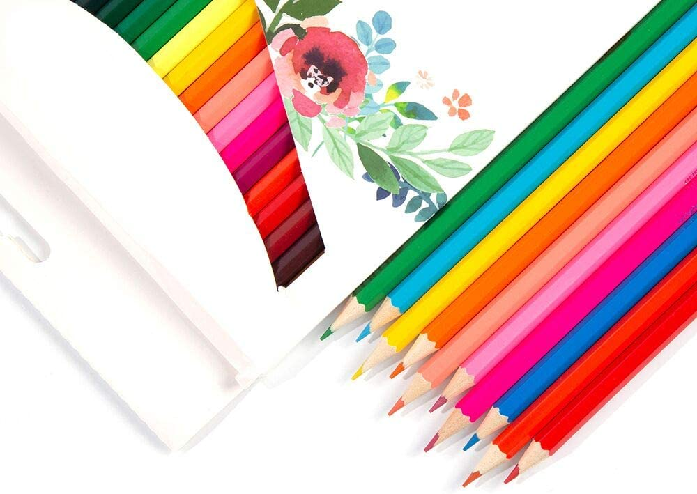 24-Color Painting Colored Pencils are Very Suitable for Multi-Color Art Painting for Adults and Children