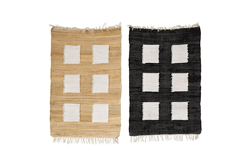 Heart of America 2 Assorted Styles Window Pane Cotton Chindi Rugs - 2 Pieces