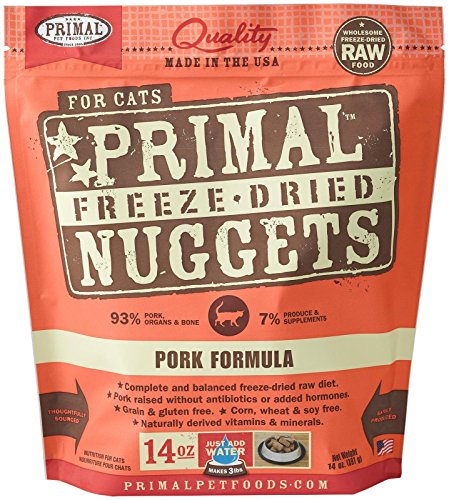 Primal FPKFD14 Pet Foods Freeze-Dried Feline Pork Formula, 1