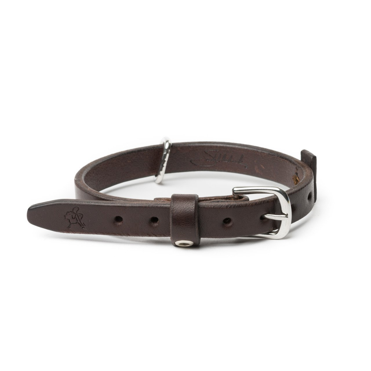 Dark Coffee Small 0.75\ Dark Coffee Small 0.75\ Saddleback Leather Co. Tough Full Grain Leather Dog Collar for Neck and Walking Includes 100 Year Warranty