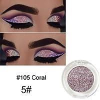 Niome Pro Makeup 8 Colors Glitter Shimmer Metallic Eyeshadow Palette Matte Pigment Eye Shadow Cosmetics 5#Coral