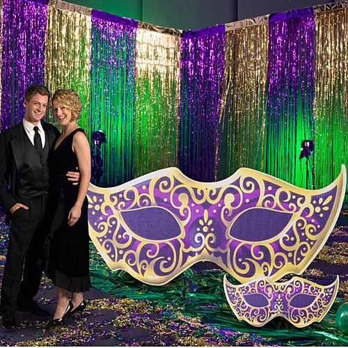 [Large Mardi Gras Standee Party Prop Cutout] (Mardi Gras Decorations)
