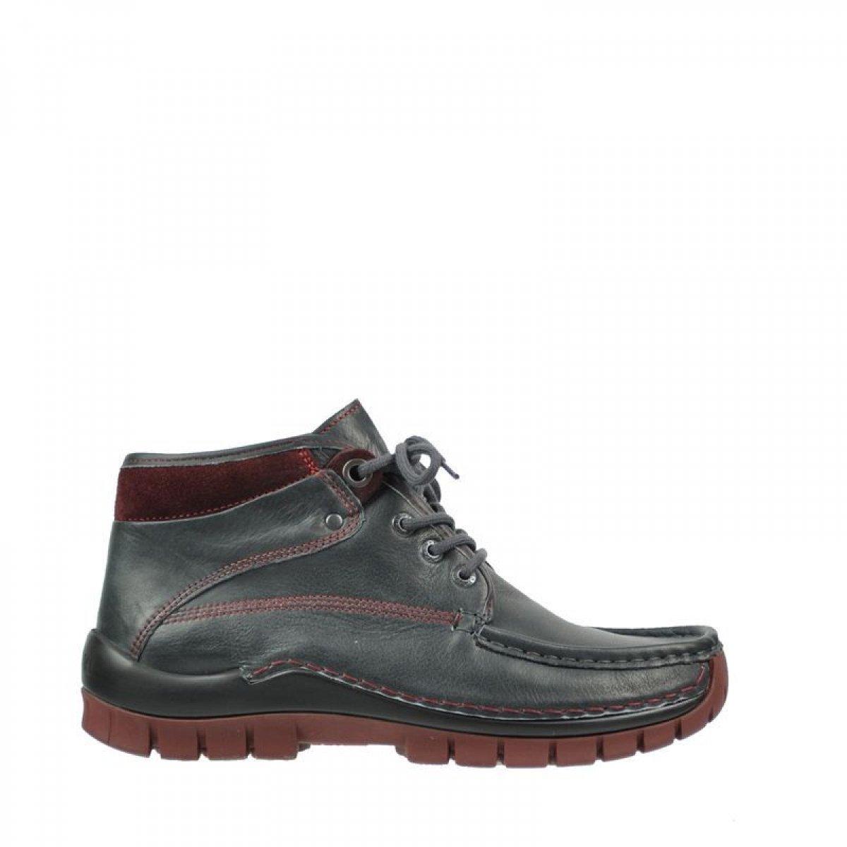 Wolky Comfort Lace up Shoes Cross Winter B0056ZJDCA 43 EU|20240 Anthracite-bordeaux Leather