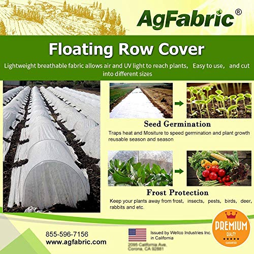 Agfabric Warm Worth Super-Heavy Floating Row Cover & Plant Blanket, 1.5oz Fabric of 7x100ft for Frost Protection & Harsh Weather Resistance, Tan