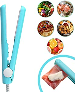 Food Bag Heat Sealer Handheld, Portable Mini Sealer Machine for Airtight Food Storage and Reseal Potato Chip Snack Bags, Household Appliances for Kitchen (Green)