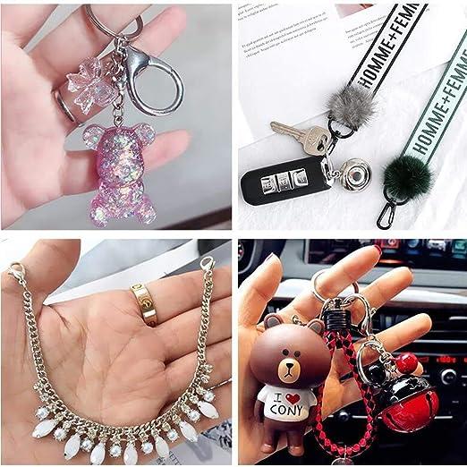 pulseras Homgaty collares plata 60 cierres de pinza de langosta de aleaci/ón de coraz/ón para joyas accesorios para hacer bricolaje