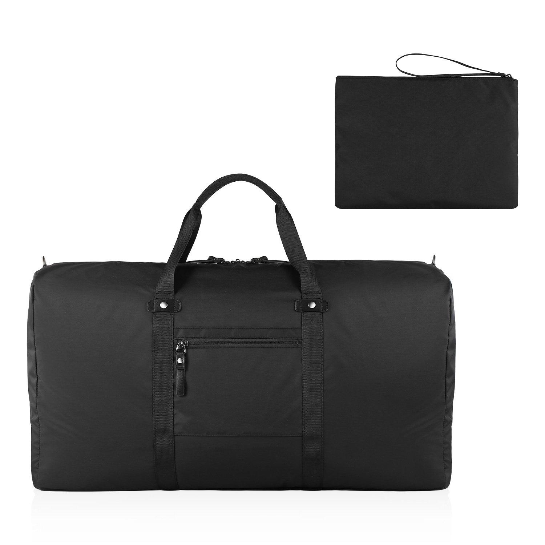 GAGAKU 80L Foldable Travel Duffel Bag Packable Lightweight Duffle Large Flight Cabin Bags for Travel - Black by GAGAKU (Image #5)