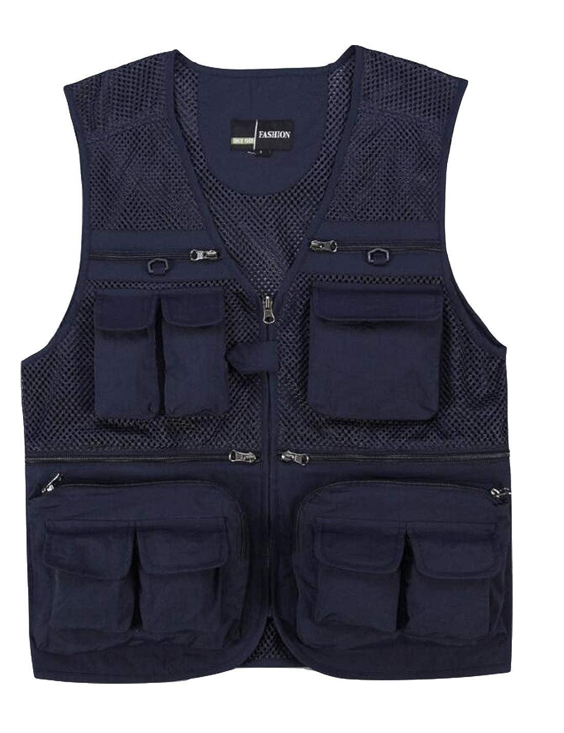 Yimoon Mens Multi-Pocket Professional Photography Vest Camera Vest Director Reporter Mesh Vest