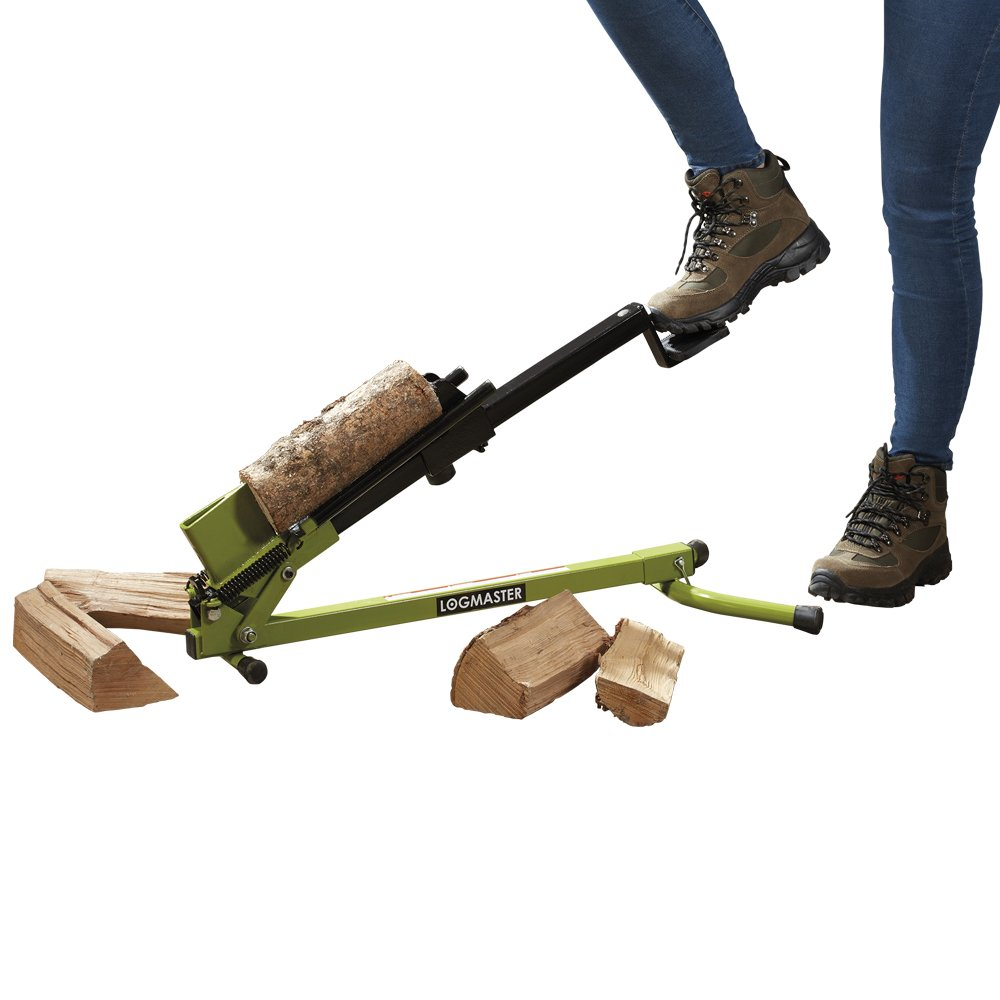 Logmaster Foot Operated Heavy Duty Log Splitter, Manual Wood Cutter for Splitting & Cutting Timber (Green) Clifford James D3953