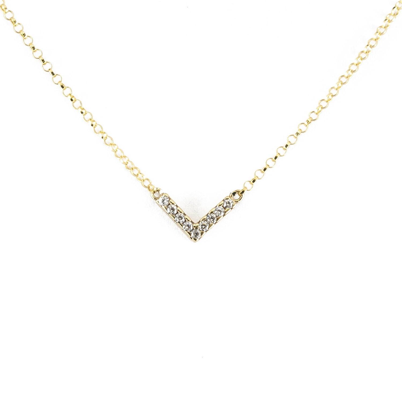 9d5f173d050d 60% de descuento Silver   Steel Gargantilla de plata oro y circonitas