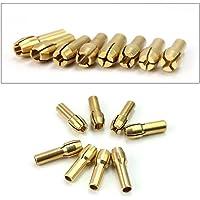 Pinça de latão BESTOYARD 1 mm/1,6 mm/2,3 mm/3,2 mm para ferramentas rotativas Dremel, pacote com 8 (dourada)