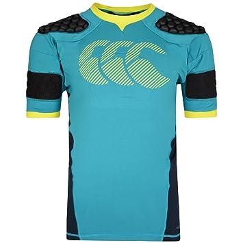 Canterbury Camiseta de Rugby con Protecciones Acolchadas para Hombre