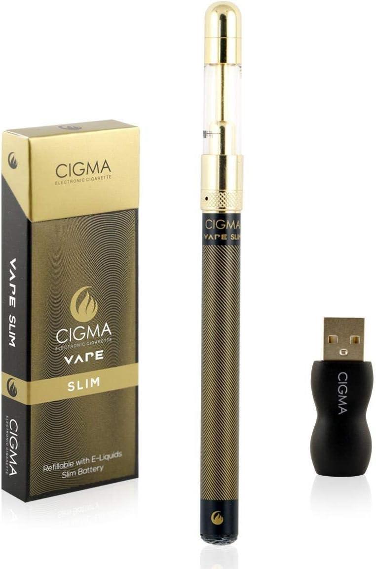 Cigma Vape - kit de cigarrillo electrónico más pequeño del mundo Recargable - E Shisha - Recargable - Claromizador Recargable - E-líquido recargable - Garantía de devolución de dinero - Negro
