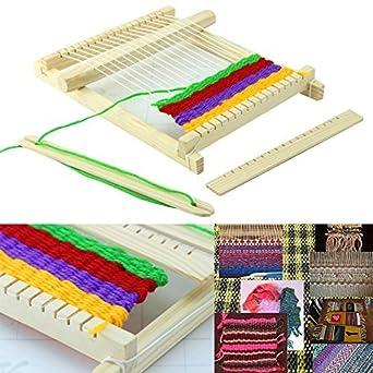 wildlead regalo de Navidad Madera hilo tejer telar Shuttle peine DIY aptitud, hecho a mano herramientas pädago gisches juguete Kit: Amazon.es: Amazon.es