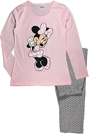 Disney Minnie Mouse Pijama de algod/ón para mujer