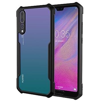 XUNDD Funda Huawei P20 Pro, Carcasa Transparente [Ultrafina] [Protección a Bordes y Cámara] [Compatible con Carga Inalámbrica] Suave Silicona Dura PC ...