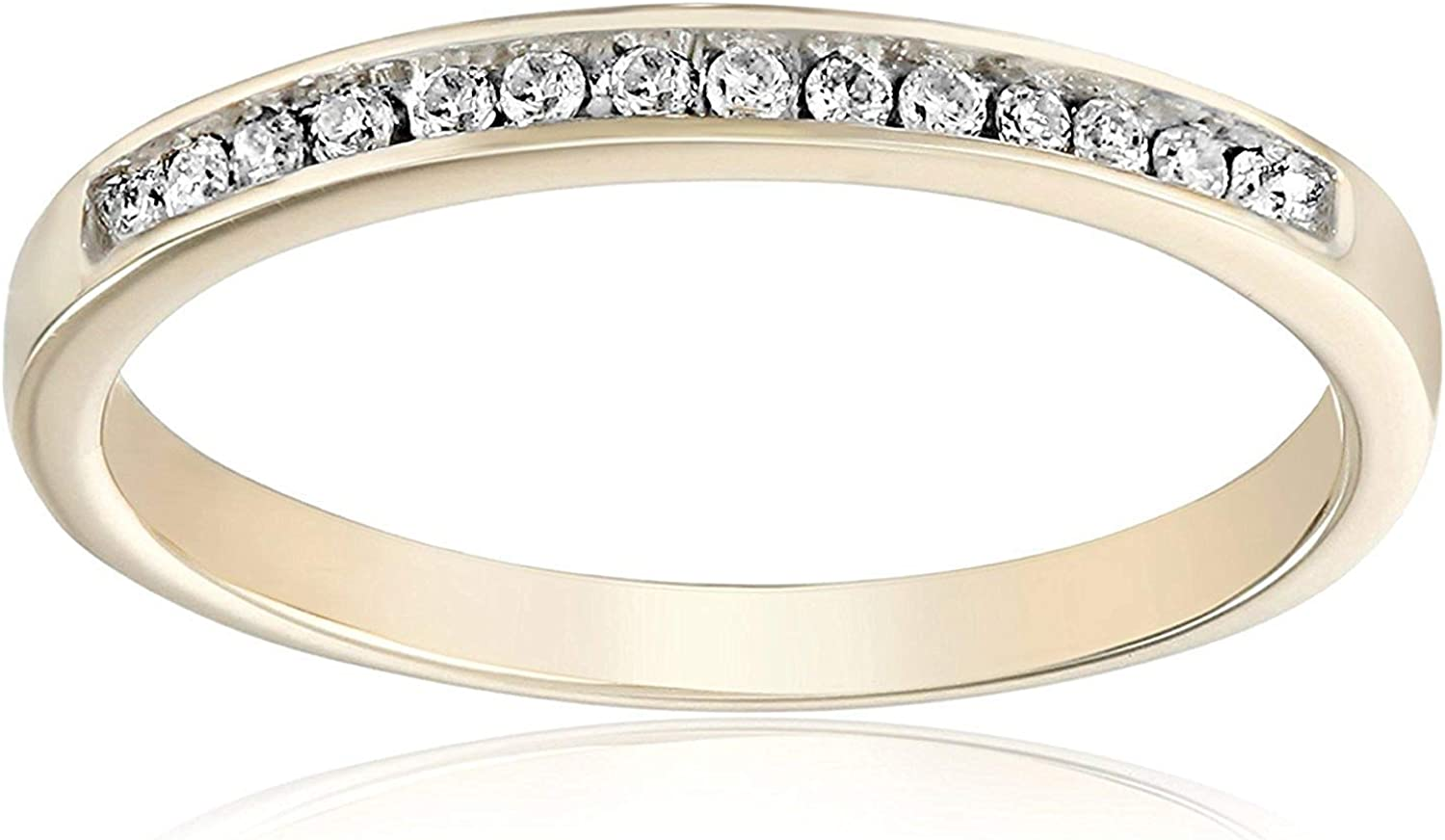 Diamond Wedding Band in 14K Pink Gold 1//10 cttw, G-H,I2-I3 Size-4