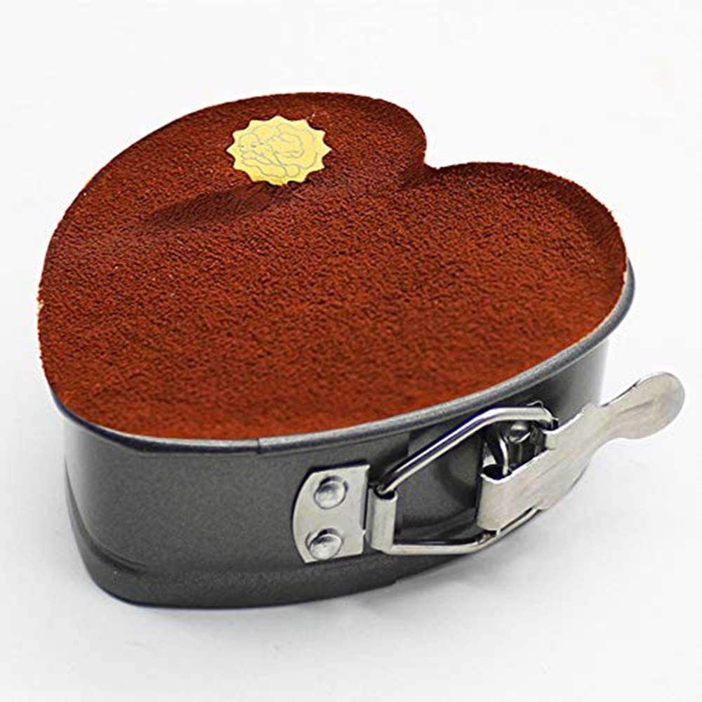 Cake Pans 4 inch Love Heart Shape Non-Stick Baking Trays Set Carbon Steel Cake Pan 8 inch Round Cake Baking Pans Kitchen Tools Cake Baking Tray with Removable Bottom Base Tray for Oven by Easy Style (Image #4)
