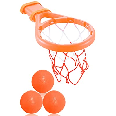 3 Bees & Me Bath Toy Basketball Hoop & Balls Set for Boys and Girls - Kid & Toddler Bath Toys Gift: Toys & Games