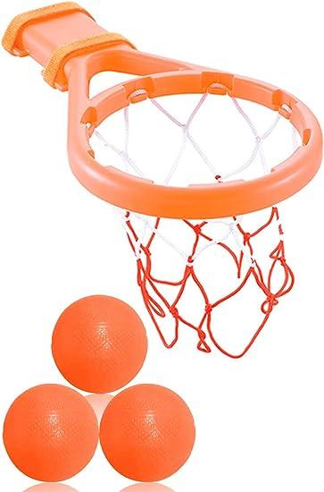 Amazon.com: Juego de 3 aros y pelotas de baloncesto de Bees ...