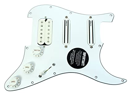 DiMarzio Andy Timmons Loaded Strat Pickguard DP224F AT-1, DP187 Cruiser  White