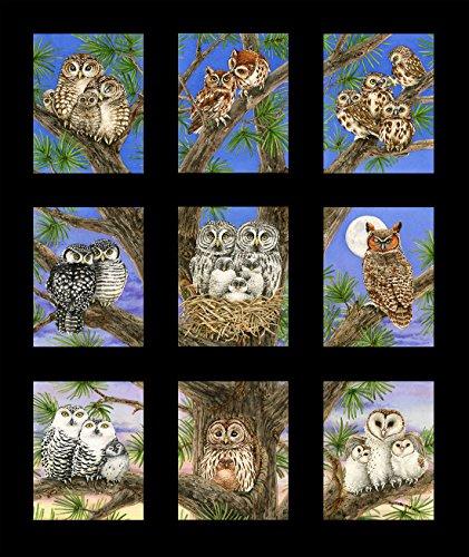 Owl Families Panel, Black, Elizabeth's Studios by Trazy Lizotte, (18 Pictures)