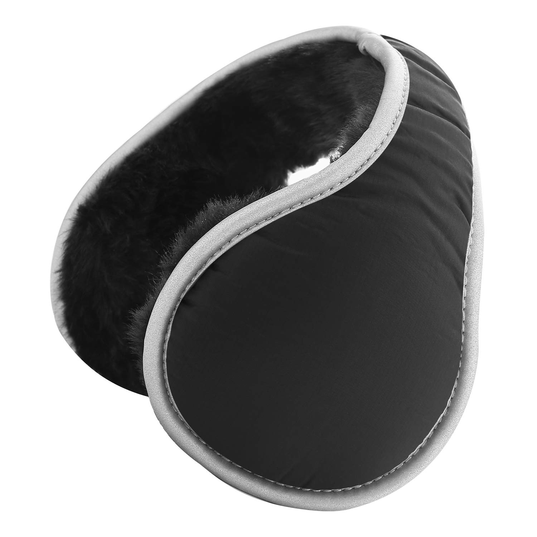 Giwil Winter Ear Muffs Foldable Plush Earmuffs Ear Warmers Adjustable Waterproof