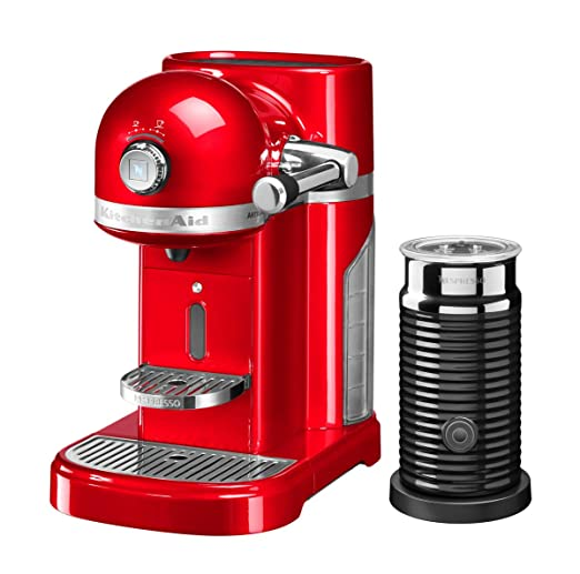 KitchenAid - Kit de cafetera Nespresso, color rojo: Amazon ...