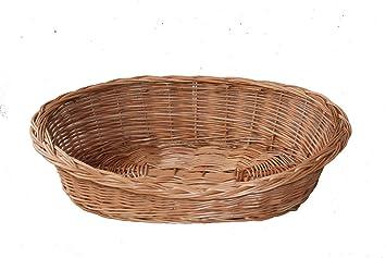Cesta de mimbre natural, cesta, perros y gatos cesta, decoración cesta