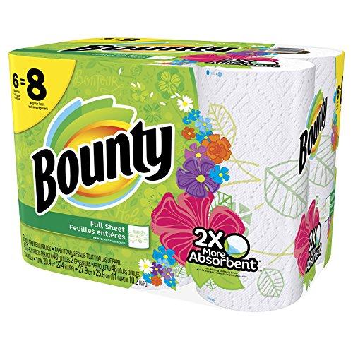 Bounty Paper Towels Fall Prints: Bounty Paper Towels, Prints, Big Roll, 6 Count