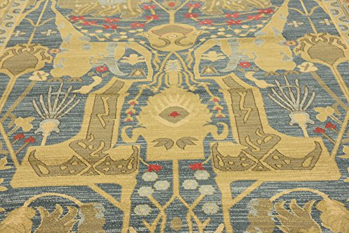 Beautiful Traditional Serapi Cllection Design, Navy Blue 9' x 12' FT Area Rug - Home Décor Foor Carpet Living Dinning Room and Bedroom Rugs, Warm Up Your Home Décor