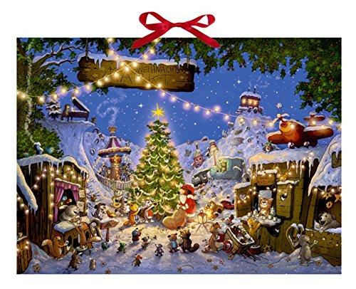 Weihnachtsmarkt der Tiere Kalender – Adventskalender, 1. September 2014 Walko Coppenrath B00H79KBRE Briefchen