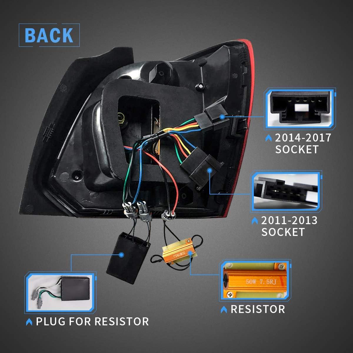 VLAND Ger/äuchert R/ückleuchten F/ür Polo MK5 6R 6C 2009-2018 R/ücklichter mit dynamisch Blinker LHD UK Inventar