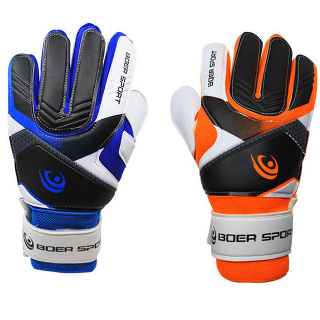 Find-In-Find Youth Adult Football Soccer Goalkeeper Goalie Training Gloves Strong Grip Finger Protection 7-9 Size