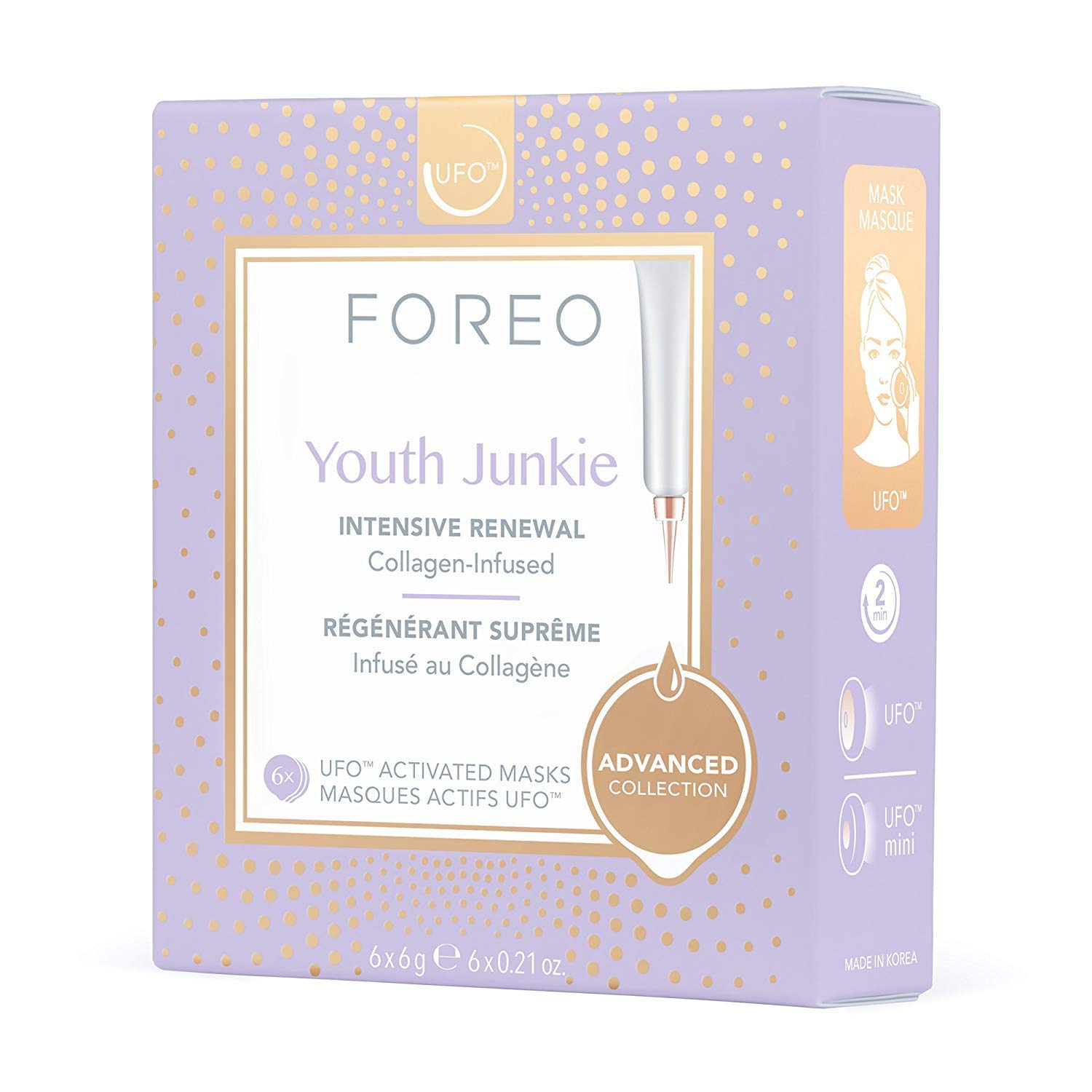 FOREO Youth Junkie Masque Actif UFO Pack de 6 F3968