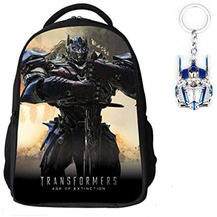 Skootz Waterproof Transformers Backpack | School Kids Backpack w/Durable  Straps & Free Bumblebee Transformer Toy Keychain (The One)