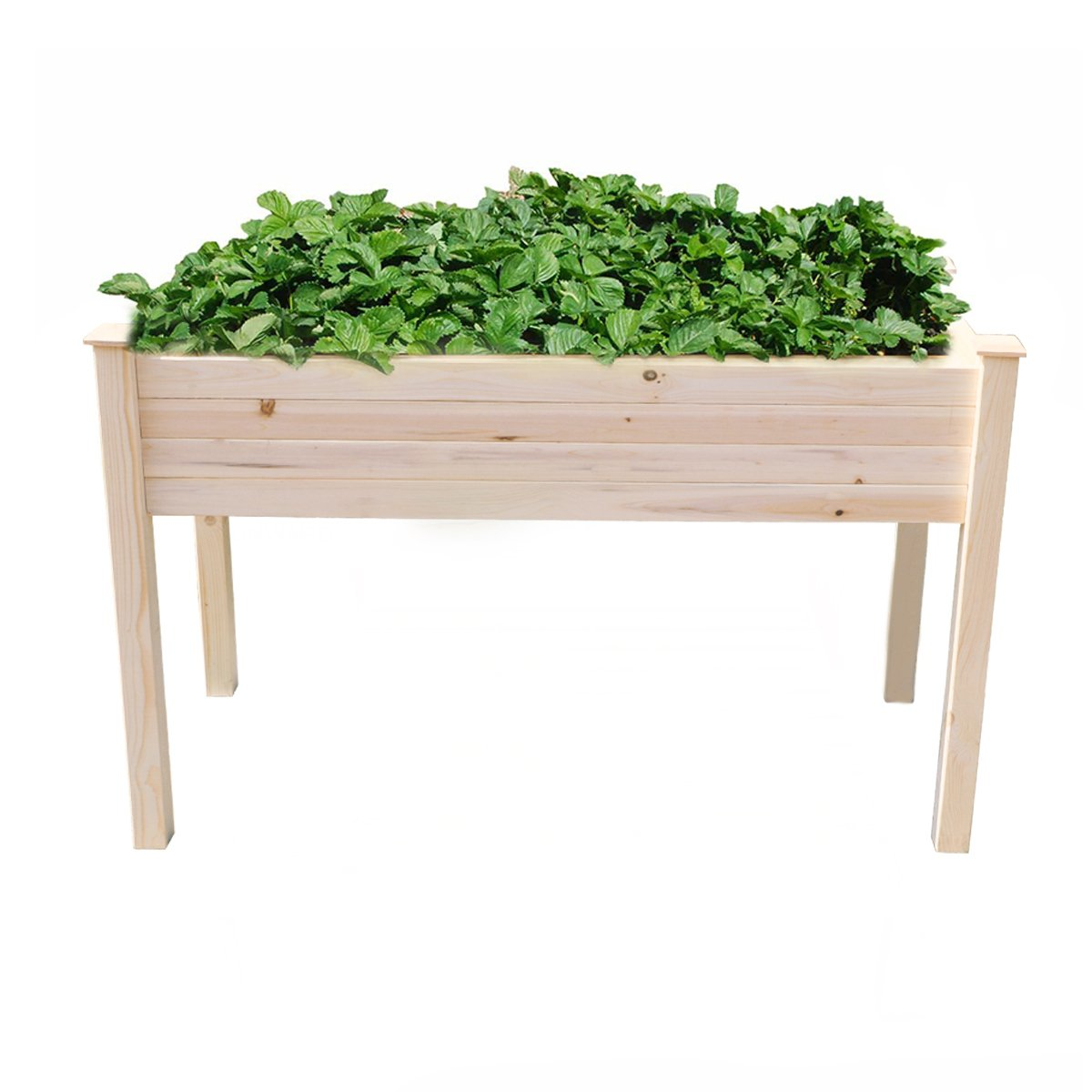 Yardeen Raised Vegetable Gardening Bed Yard Big Herb Planter Box Naturel Cedar Wood 7.48'' Box Depth by Yardeen
