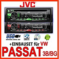VW Passat 3B & 3BG - JVC KD-R469E - CD/MP3/USB Autoradio - Einbauset