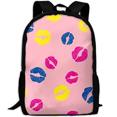 SZYYMM Colorful Lips Oxford Cloth Casual Unique Backpack, Adjustable Shoulder Strap Storage Bag,Travel/Outdoor Sports/Camping/School For Women And Men new
