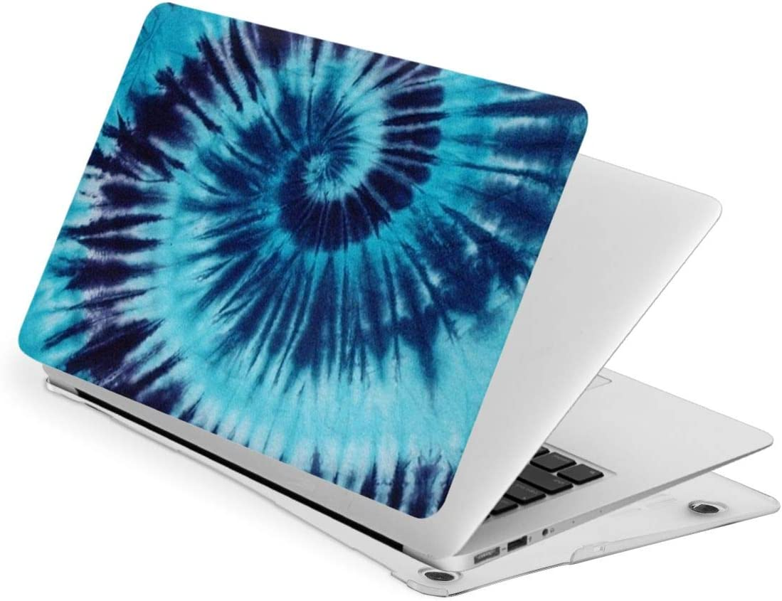 Pekivide Laptop Case for MacBook, Tie Dye Blue Swirl Spiral Laptop Computer Hard Shell Cases Cover (New Air13 / Air13 / Pro13 / Pro15)