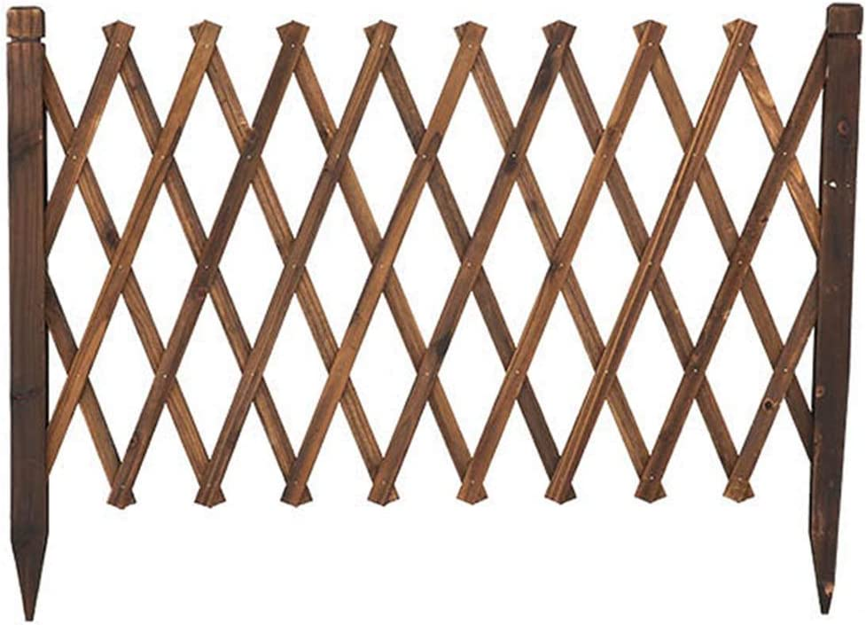 LXD Plant Stands,Home Expanding Fence Garden Screen Trellis Style Movable Fence - Wood Garden Border Fence