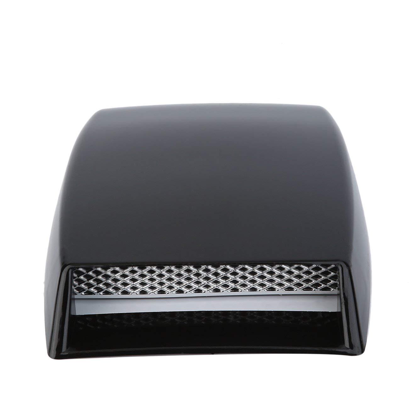 Car styling a 3 colori Carico decorativo universale Presa daria Scoperta Coperchio di sfiato cofano motore Turbo Car styling argento//bianco//nero JBP-X