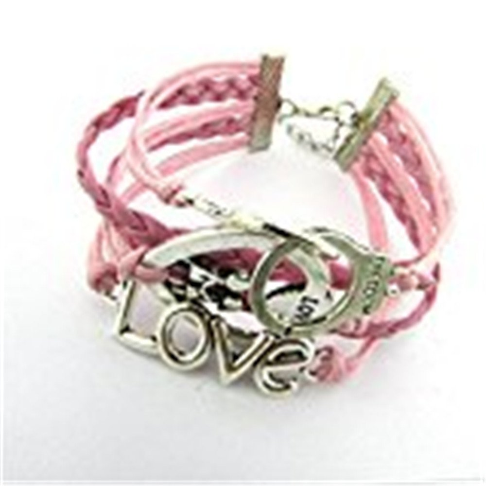 DENER Love Heart Pearl Vintage Multilayered Hand-woven Beads braided Beaded Rope Alloy Feather Adjustable Wire Bangle Bracelet