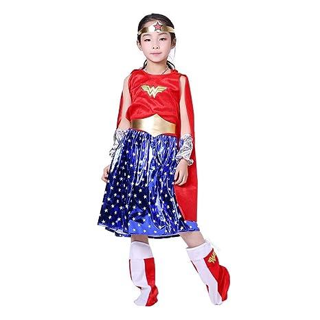 ANWXY Disfraces Disfraz Halloween Justicia con Capa,Disfraces ...
